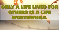 LIFE AND LIVED QUOTE TEMPLATE Facebook 广告