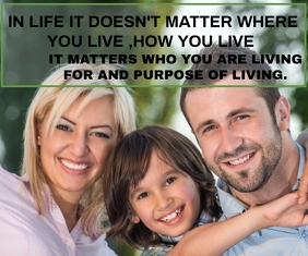 LIFE AND LIVING QUOTE TEMPLATE