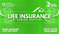Life Insurance Advisor Card Template Tarjeta de Presentación
