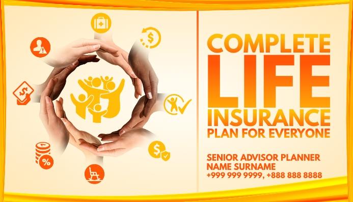 Life Insurance Advisor Card Template Cartão de visita