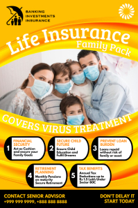 Life Insurance Covid-19 Pack Template Póster