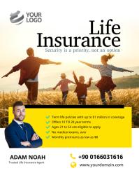 Life Insurance Flyer Poster Iflaya (Incwadi ye-US) template