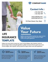 life insurance flyer template design advertis Volante (Carta US)