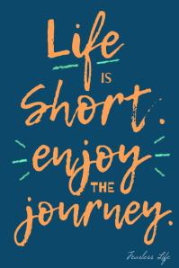 Life is Short Funny Inspiration decorative Cartaz template
