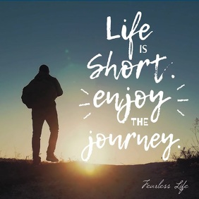 Life is Short Funny Inspiration square post Kvadrat (1:1) template
