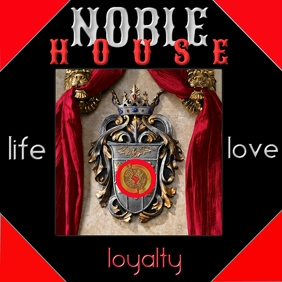 Life Love Loyalty Family Crest Album Cover Portada de Álbum template