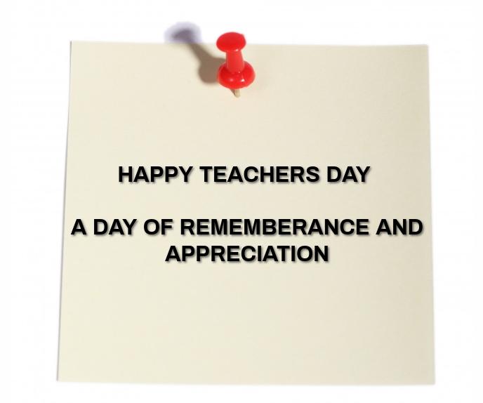 LIFE OF TEACHER DAY TEMPLATE Rettangolo grande