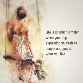 Life Quote Publicação no Instagram template