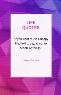 Life quotes Tabloid template