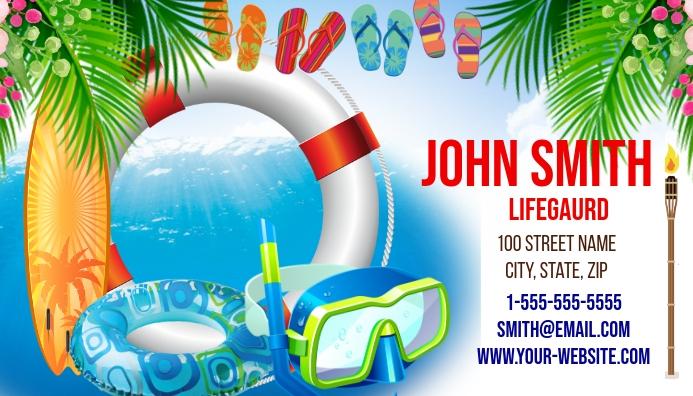 Lifeguard Business Card Template
