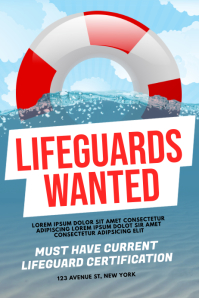 Lifeguards Wanted Flyer Template