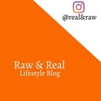 Lifestyle blog flyer Logotyp template