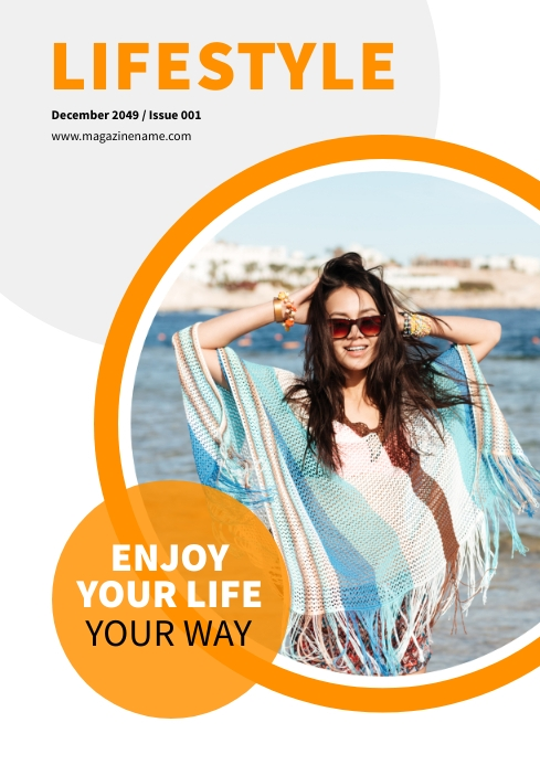 Lifestyle Magazine Cover A4 template