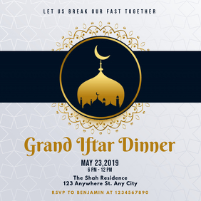 Light Blue Iftar Invitation Instagram