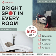 Light Blue Online Home Furniture Ads Iphosti le-Instagram template