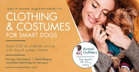Light brown dog clothing boutique Facebook po template