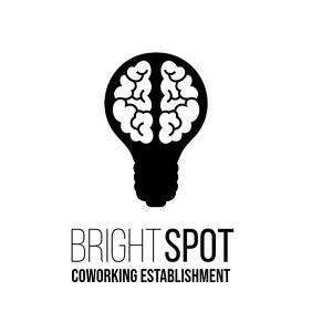 Light Bulb Brain coworking logo Логотип template