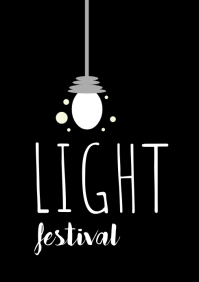 Light Festival A4 template