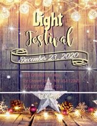 Light Festival Flyer (US Letter) template