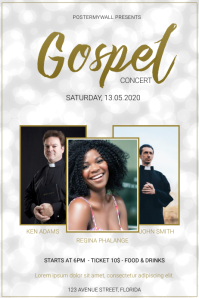 light gospel concert flyer template