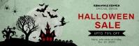 Light green Halloween Twitter header Twitter-header template