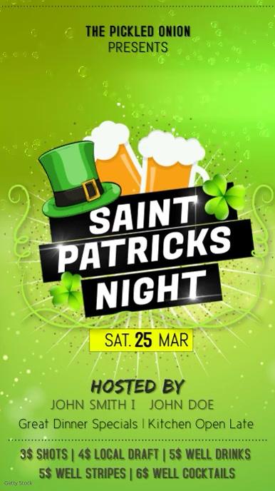 Light Green St Patty's Day Digital Display Ad