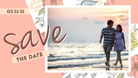 Light Orange Save The Date Templates 博客标题