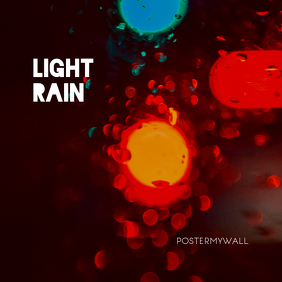 Light Rain Minial Music CD Cover Template