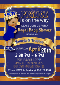 Light Skin Royal Prince Baby Shower