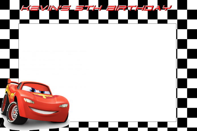Lightening Mcqueen Party Prop Frame Template Postermywall
