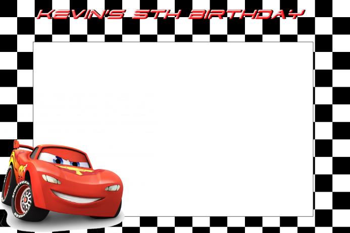Lightening McQueen Party Prop Frame