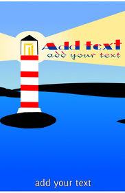 Lighthouse in the coast simple design template tabloid size