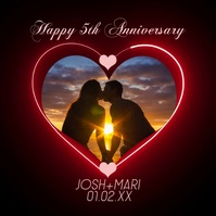 Lights and Heart Happy Anniversary Couples Ph โพสต์บน Instagram template