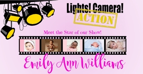 Lights Camera Action: Baby Announcement Facebook Shared Image template