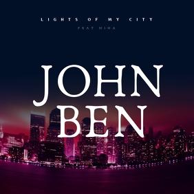 LIGHTS OF MY CITY ALBUM COVER Capa de álbum template