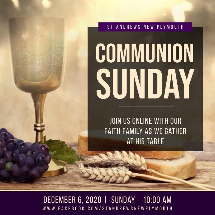 Lights online communion service instagram vid Persegi (1:1) template