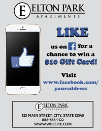 Like on Facebook Flyer