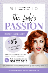 Lilac Ladies Event Flyer Poster template