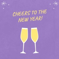 Lilac New Year Wish Instagram Video Wpis na Instagrama template