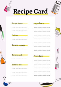 Lilac Portrait Recipe Card