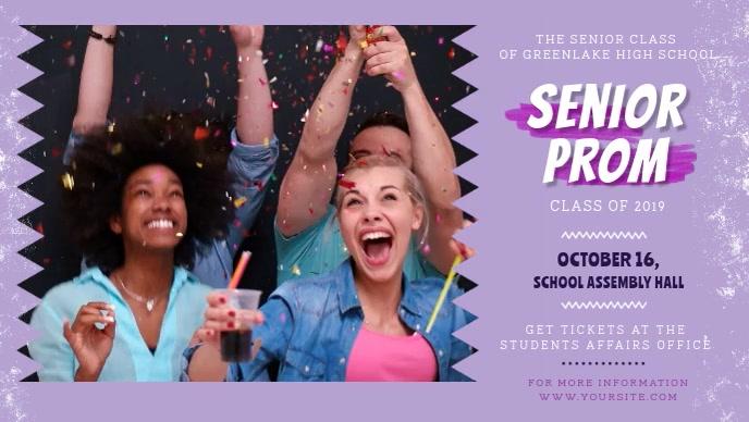 Lilac Prom Night Invitation Facebook Cover Vi