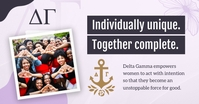 Lilac Sorority Facebook Shared Image template