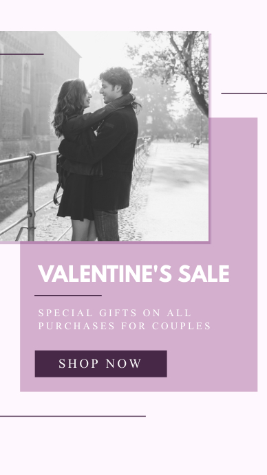Lilac Valentine's Sale Instagram Story template