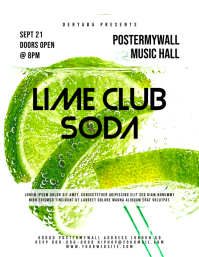 Lime Club Event Flyer Template