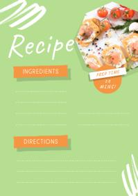 Lime Green Recipe Card