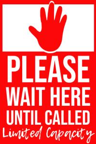 Limited Capacity Coronavirus Template Poster