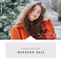 limited time offer fashion sales up to 50% of Post Instagram template