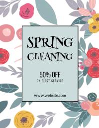 limpieza de primavera 50?descuento Flyer (Letter pang-US) template