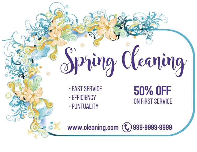 limpieza de primavera 50?descuento Рекламная листовка (US Letter) template