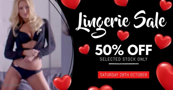 Lingerie Sale Facebook Video Event Poster template